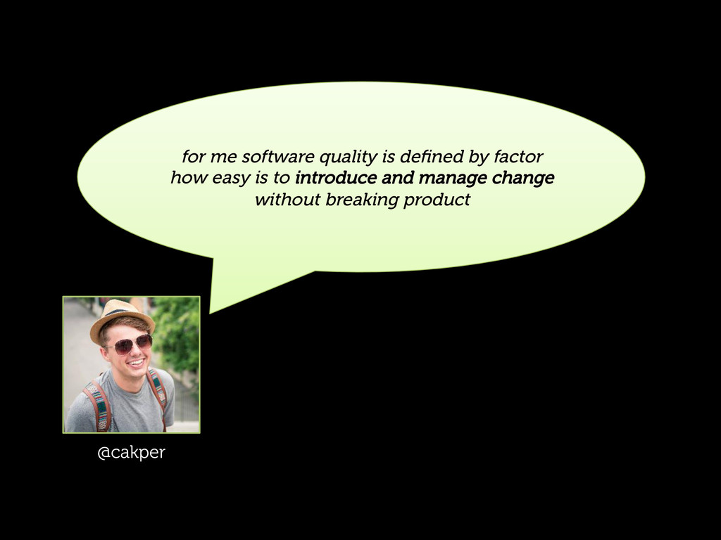 for me software quality is defined by factor how...