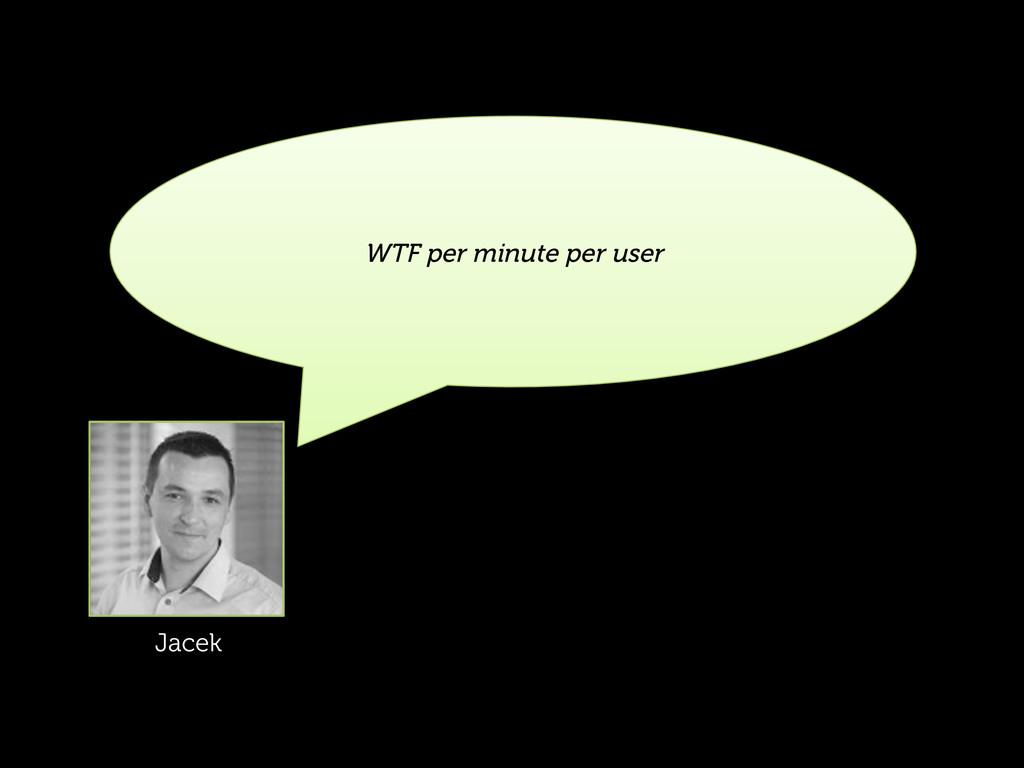 WTF per minute per user Jacek