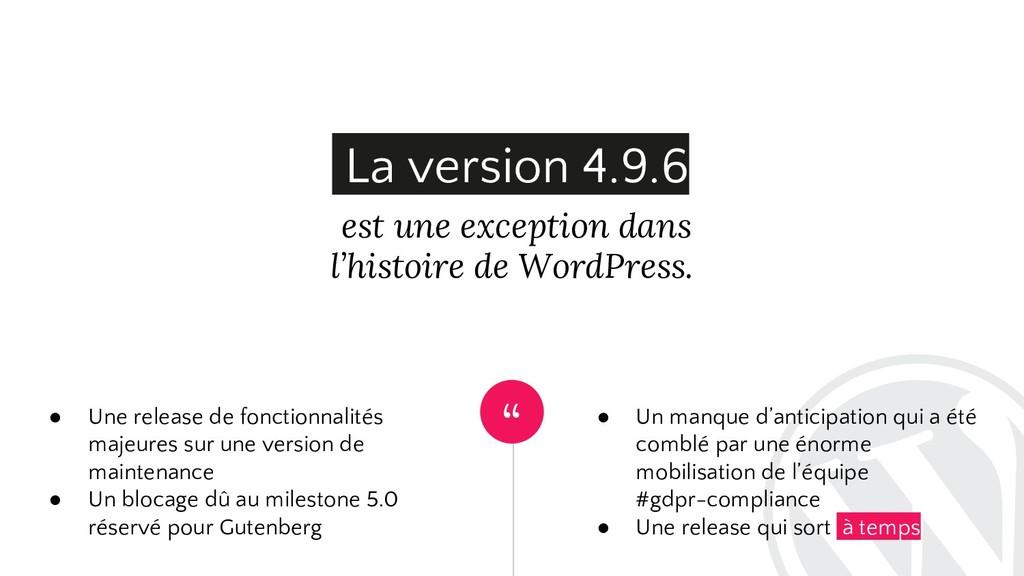 """"""" est une exception dans l'histoire de WordPres..."""