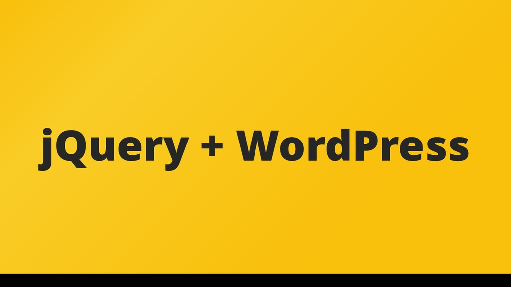 jQuery + WordPress