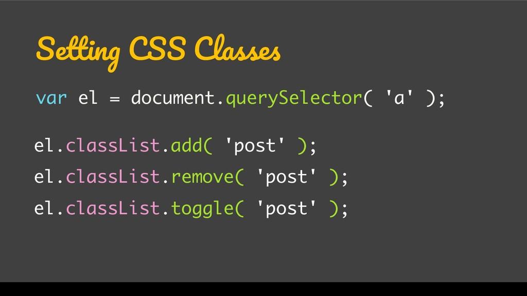 WordCamp Miami 2017 Setting CSS Classes var el ...