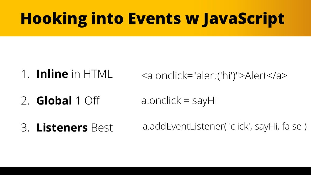 WordCamp Miami 2017 Hooking into Events w JavaS...