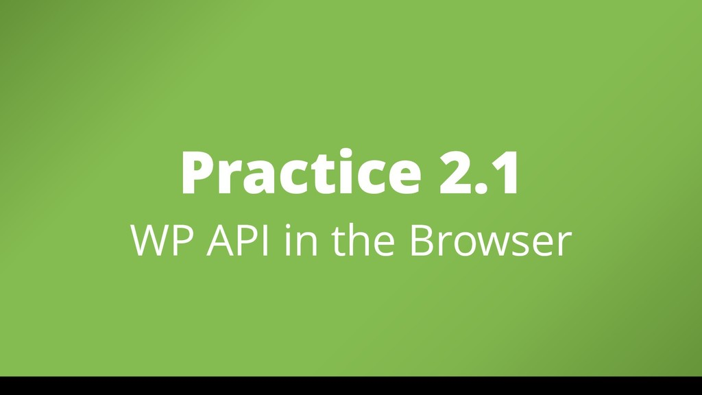 Practice 2.1