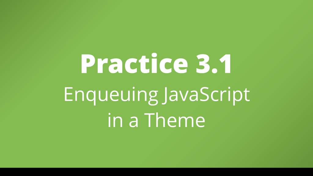 Practice 3.1