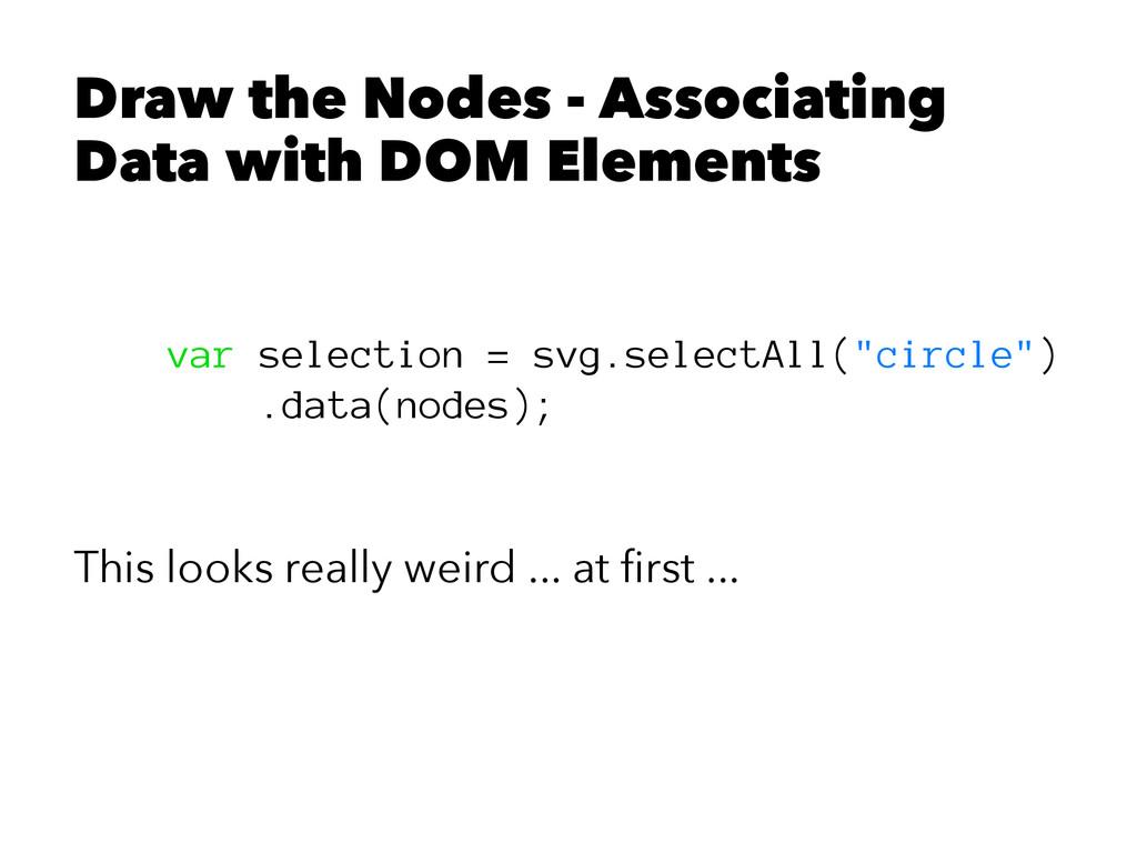 Draw the Nodes - Associating Data with DOM Elem...