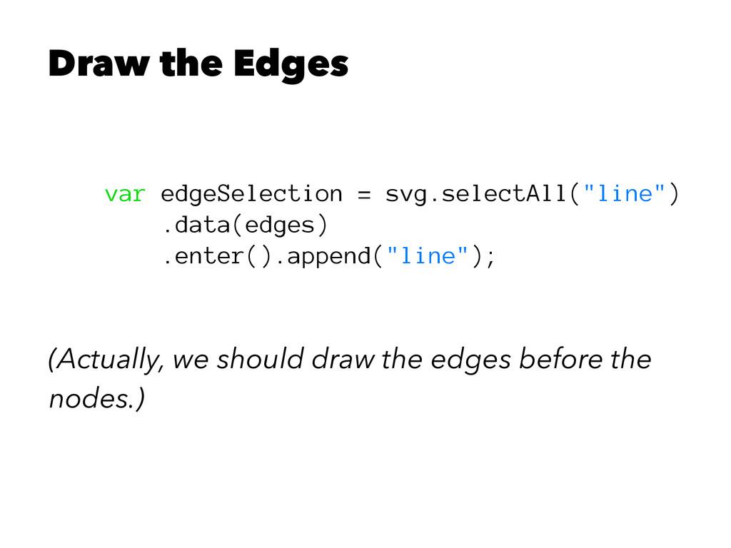 Draw the Edges var edgeSelection = svg.selectAl...