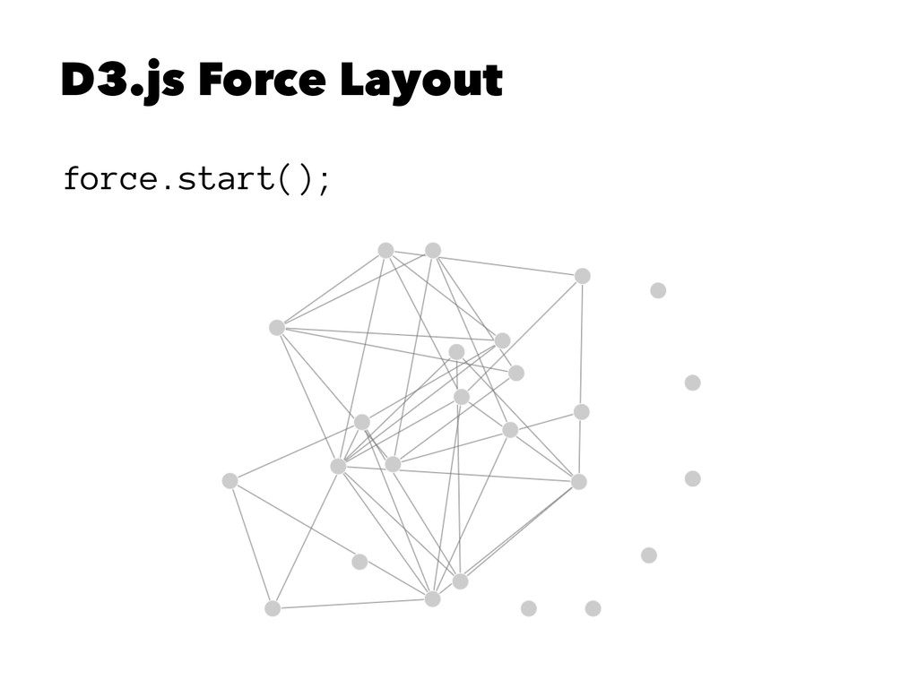 D3.js Force Layout force.start();