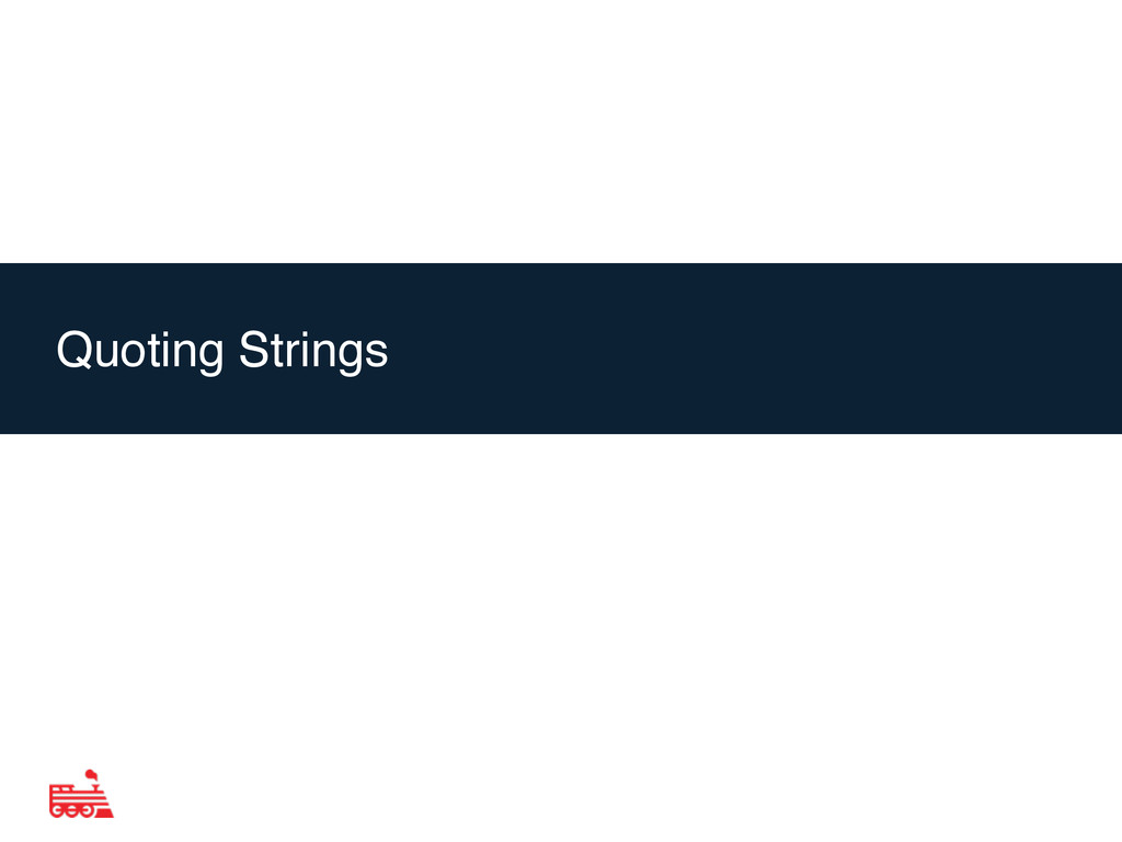 Agenda Quoting Strings