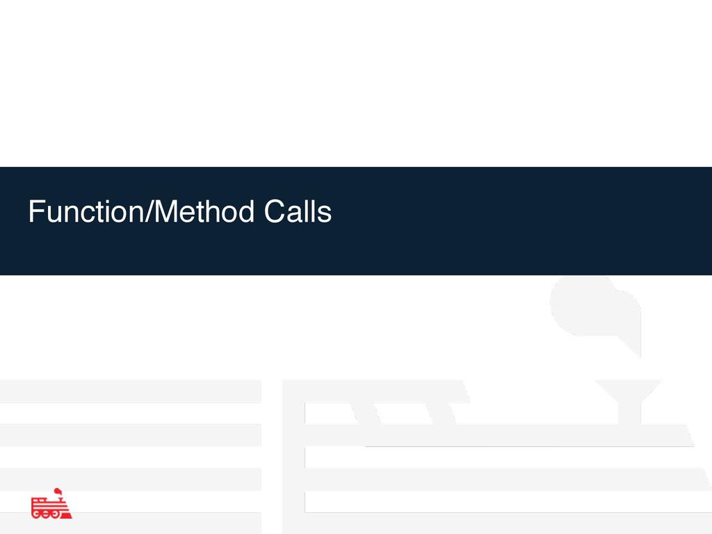Function/Method Calls