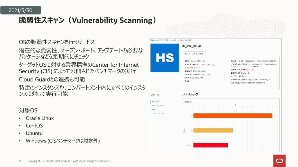 OSの脆弱性スキャンを行うサービス 潜在的な脆弱性、オープン・ポート、アップデートの必要な パ...