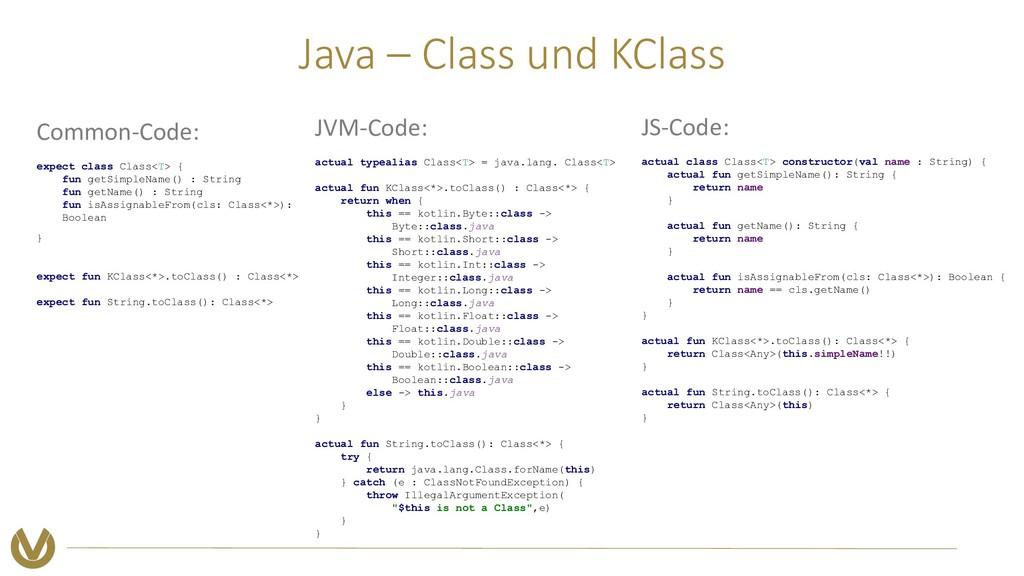 Java – Class und KClass Common-Code: expect cla...