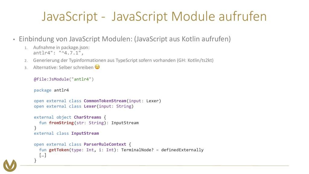 JavaScript - JavaScript Module aufrufen • Einbi...