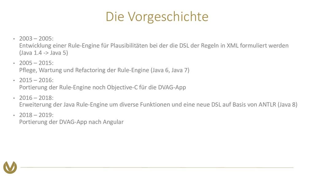 Die Vorgeschichte • 2003 – 2005: Entwicklung ei...