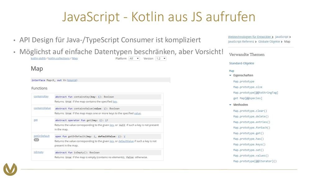JavaScript - Kotlin aus JS aufrufen • API Desig...