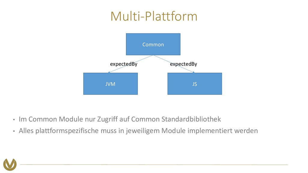 Multi-Plattform • Im Common Module nur Zugriff ...