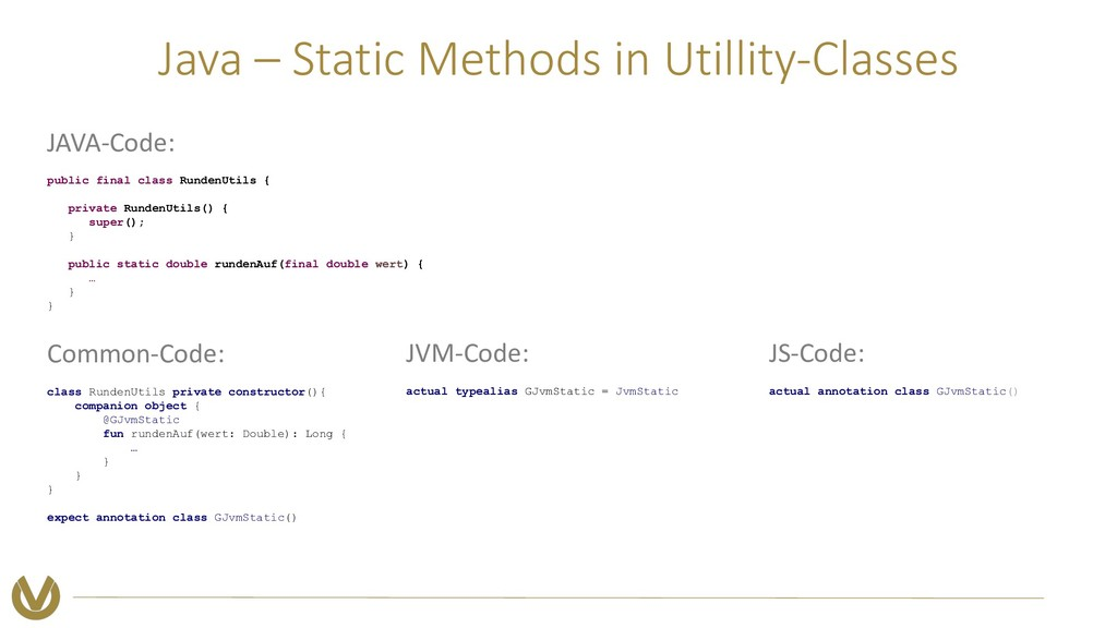 Java – Static Methods in Utillity-Classes Commo...