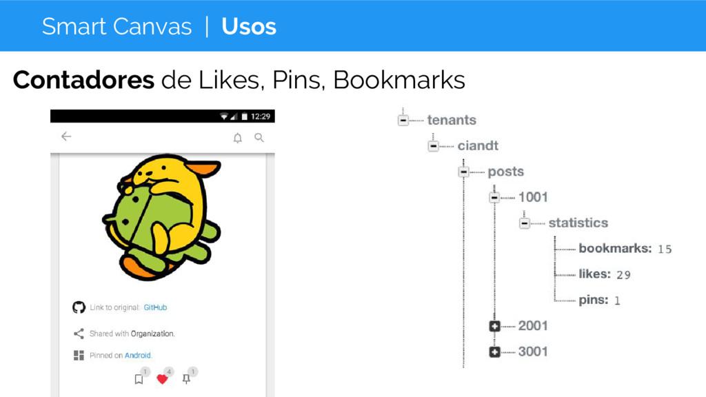 Smart Canvas | Usos Contadores de Likes, Pins, ...