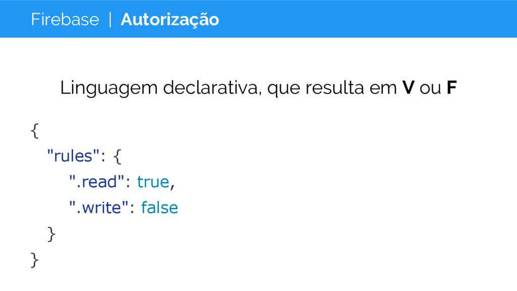 Firebase | Autorização Linguagem declarativa, q...