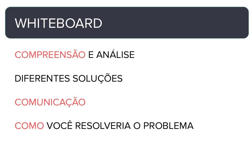 WHITEBOARD COMPREENSÃO E ANÁLISE DIFERENTES SOL...