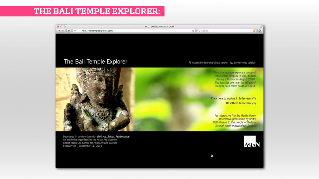 THE BALI TEMPLE EXPLORER: .