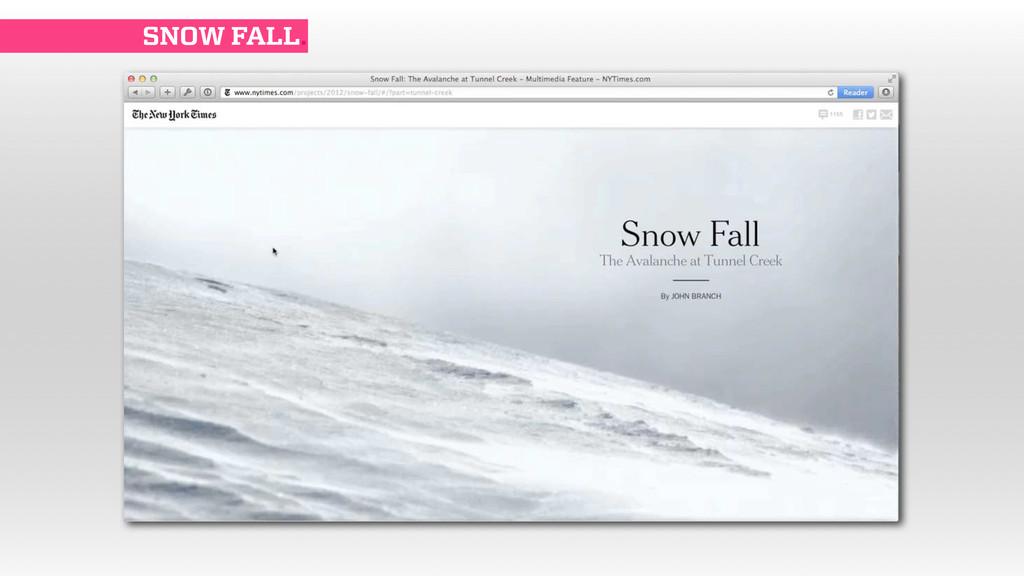 SNOW FALL.