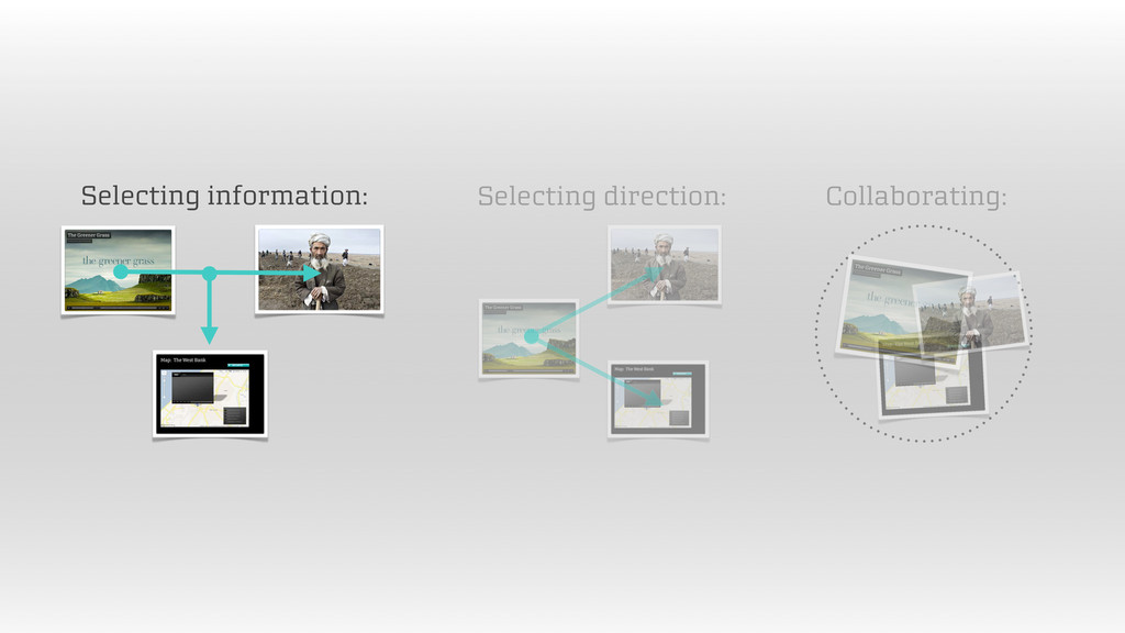 Selecting information: Selecting direction: Col...