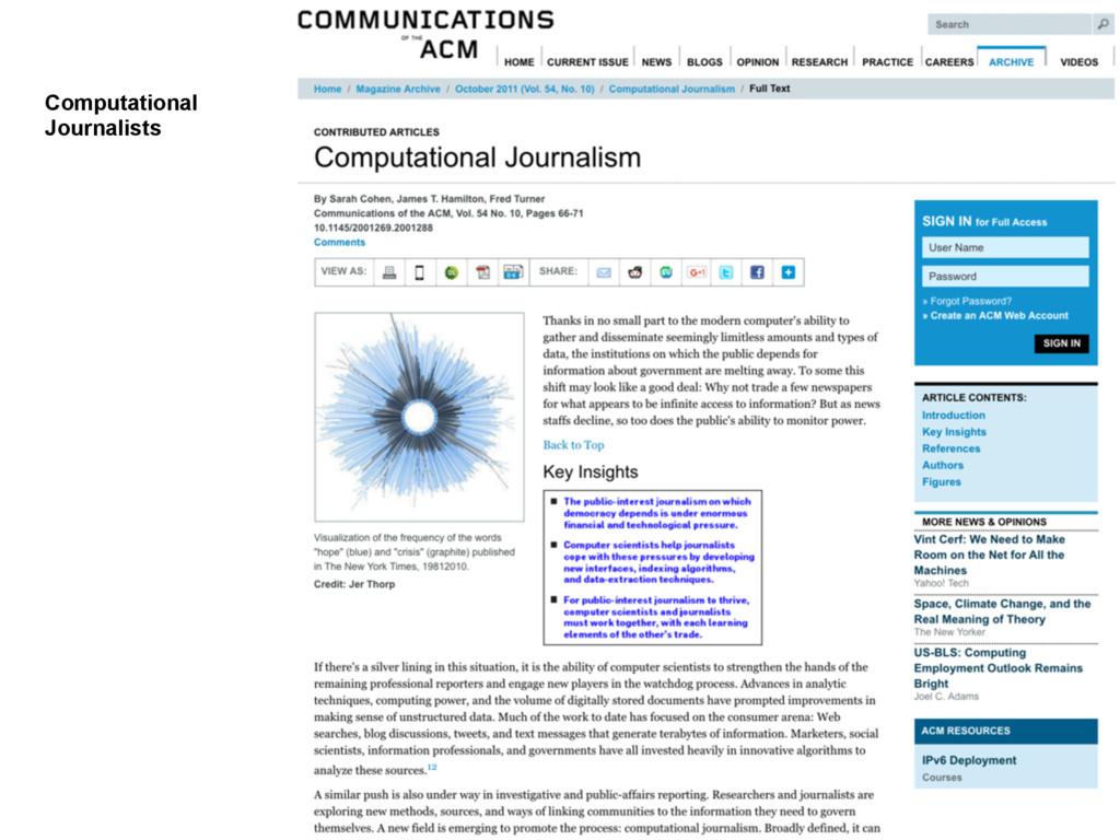 Computational Journalists