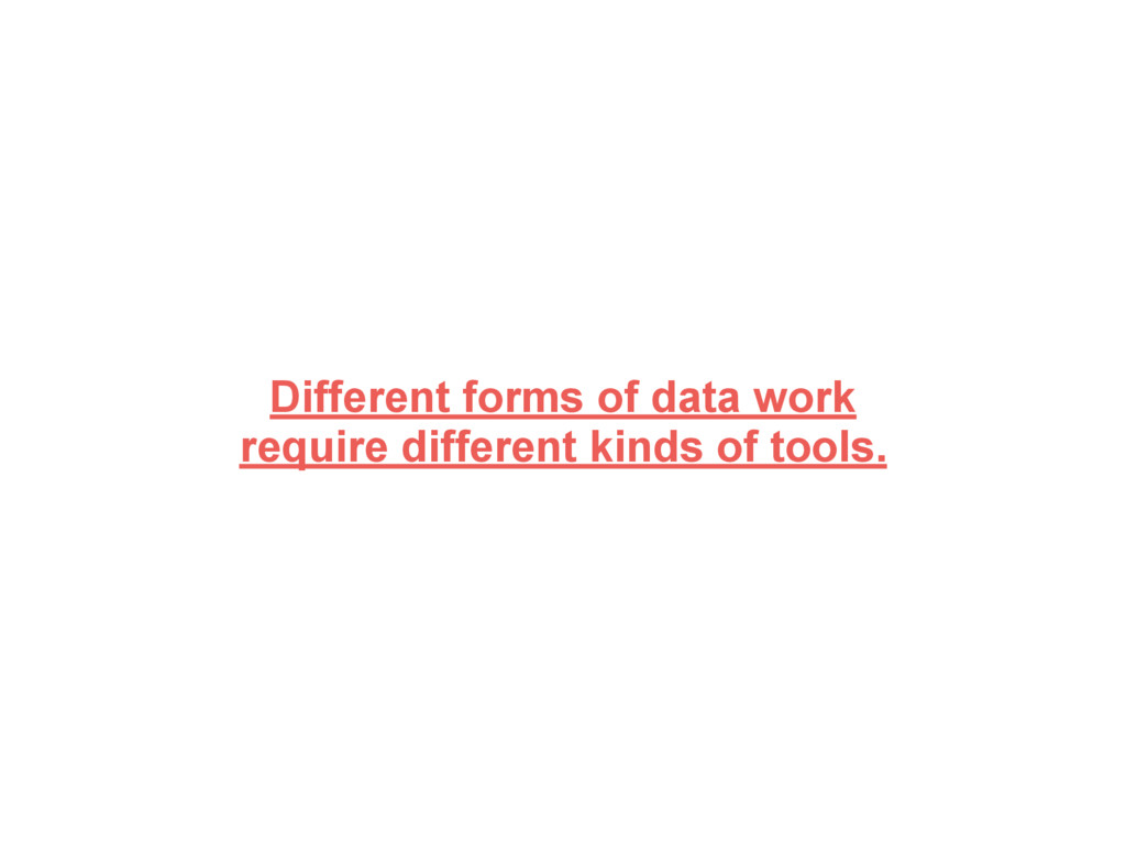 Different forms of data work require different ...