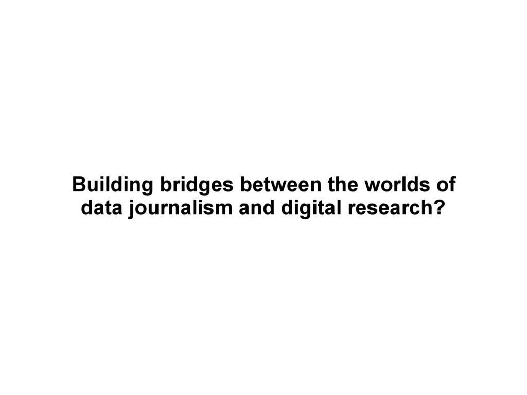 Building bridges between the worlds of data jo...