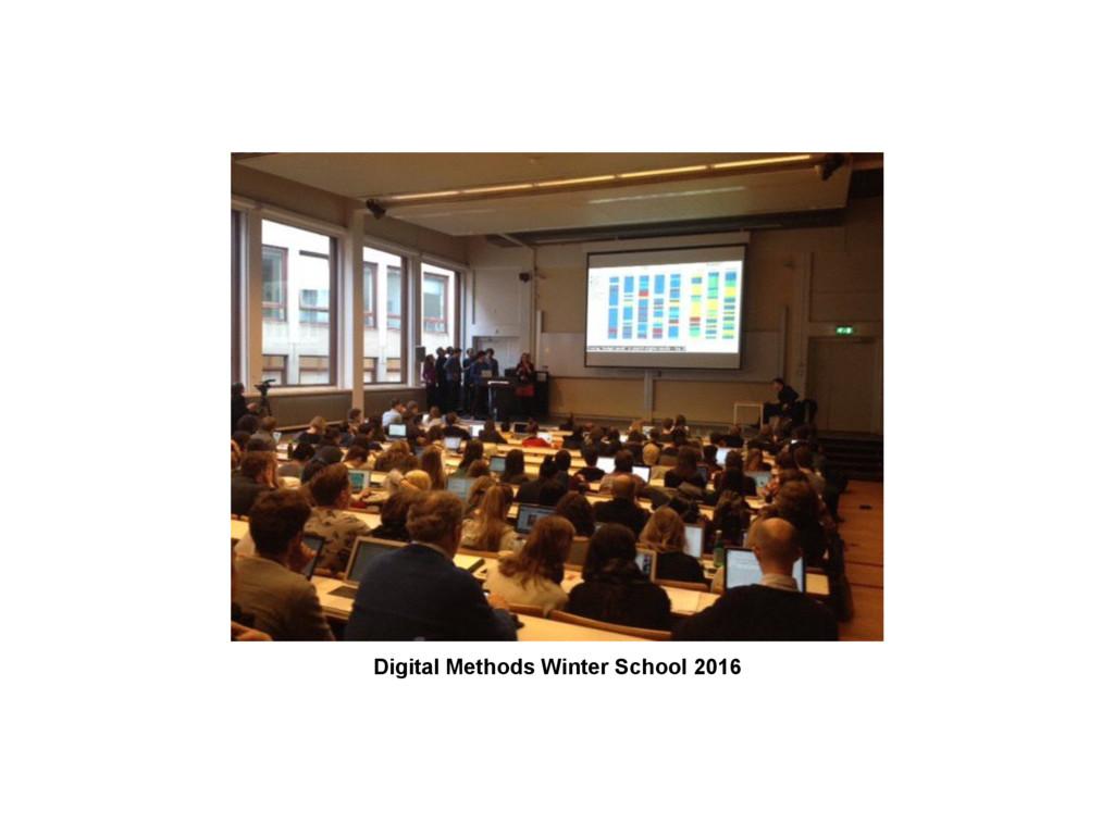 Digital Methods Winter School 2016