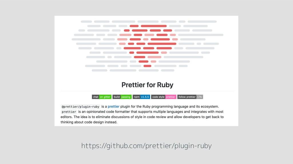https://github.com/prettier/plugin-ruby