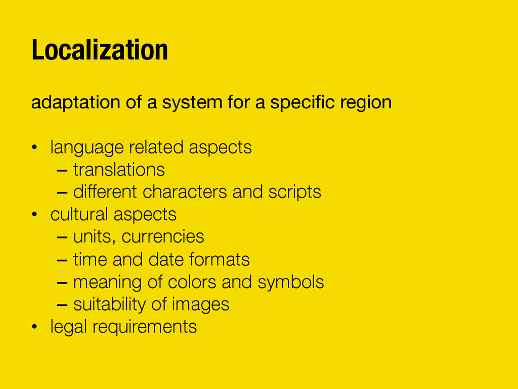 Localization