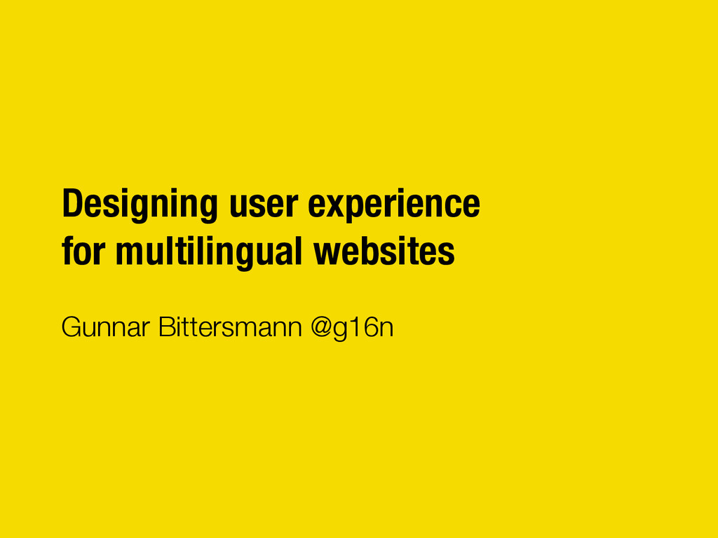 "Designing user experience"" for multilingual web..."
