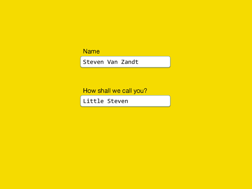 How shall we call you?