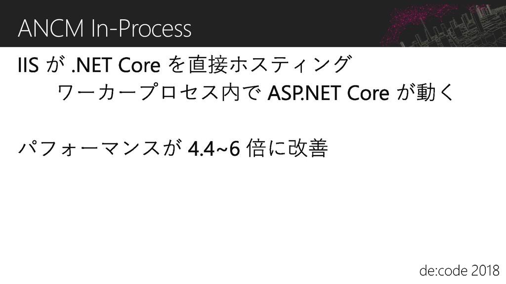ANCM In-Process