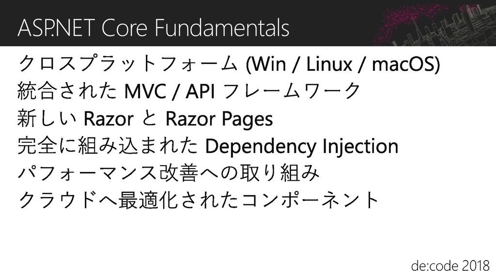 ASP .NET Core Fundamentals