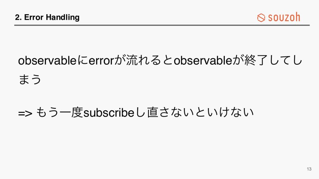 2. Error Handling observableʹerror͕ྲྀΕΔͱobservab...
