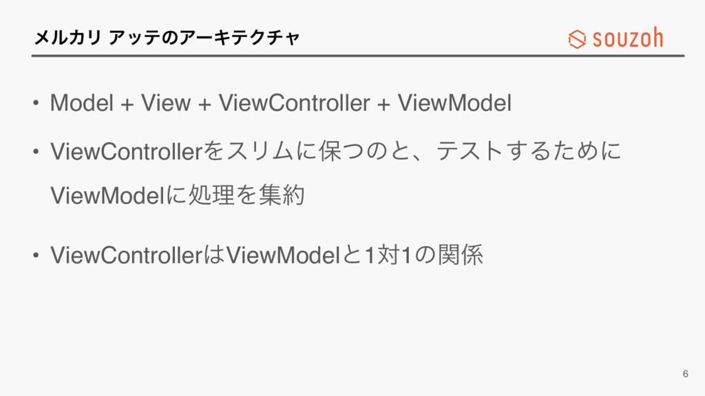 ϝϧΧϦ ΞοςͷΞʔΩςΫνϟ • Model + View + ViewControlle...