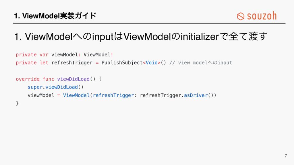 1. ViewModel࣮ΨΠυ private var viewModel: ViewMo...