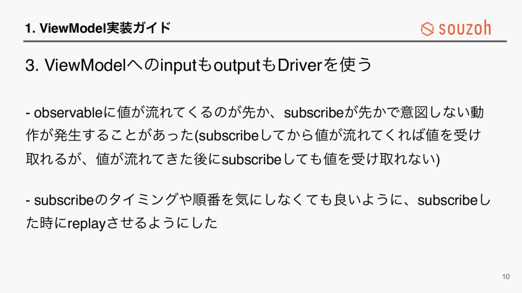 1. ViewModel࣮૷ΨΠυ 3. ViewModel΁ͷinput΋output΋Dr...