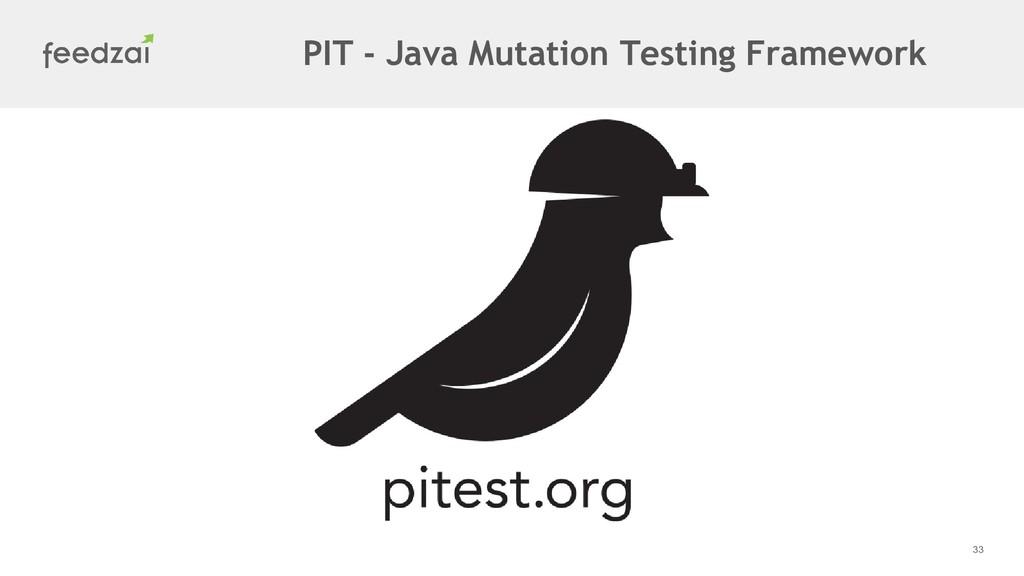 33 PIT - Java Mutation Testing Framework