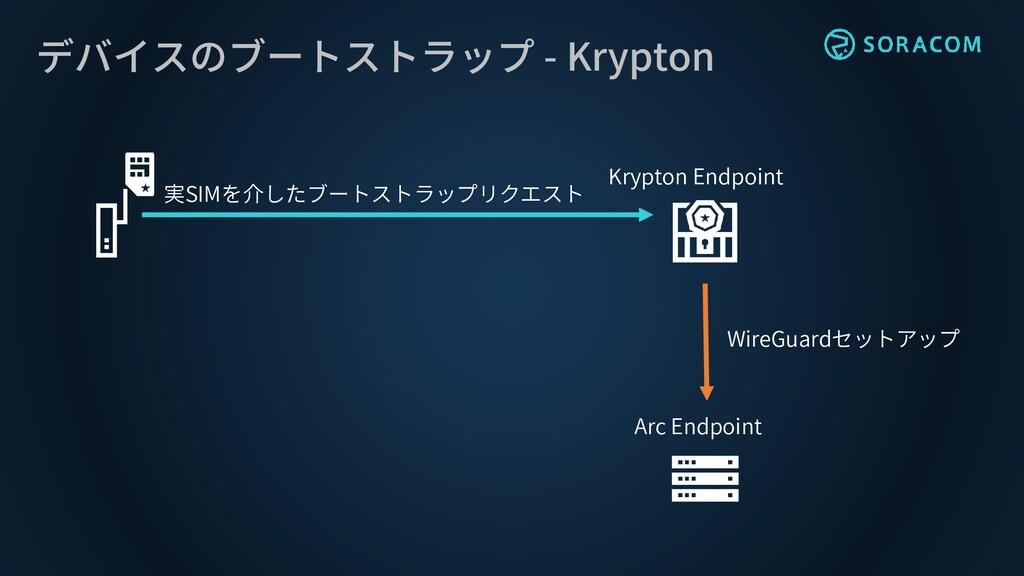 デバイスのブートストラップ - Krypton 実SIMを介したブートストラップリクエスト K...
