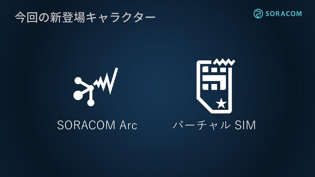 今回の新登場キャラクター SORACOM Arc バーチャル SIM