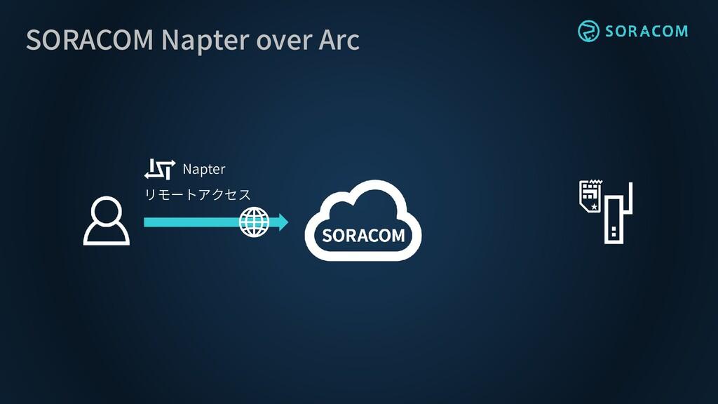 SORACOM Napter over Arc Napter リモートアクセス