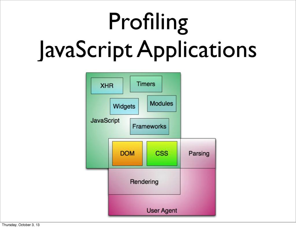 Profiling JavaScript Applications Thursday, Octo...