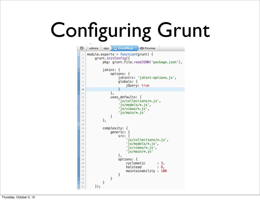 Configuring Grunt Thursday, October 3, 13