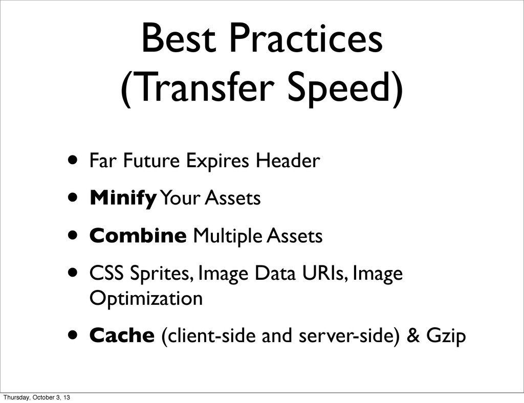 Best Practices (Transfer Speed) • Far Future Ex...