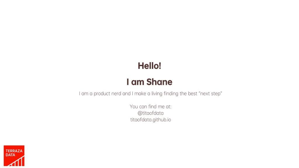 Hello! I am Shane I am a product nerd and I mak...