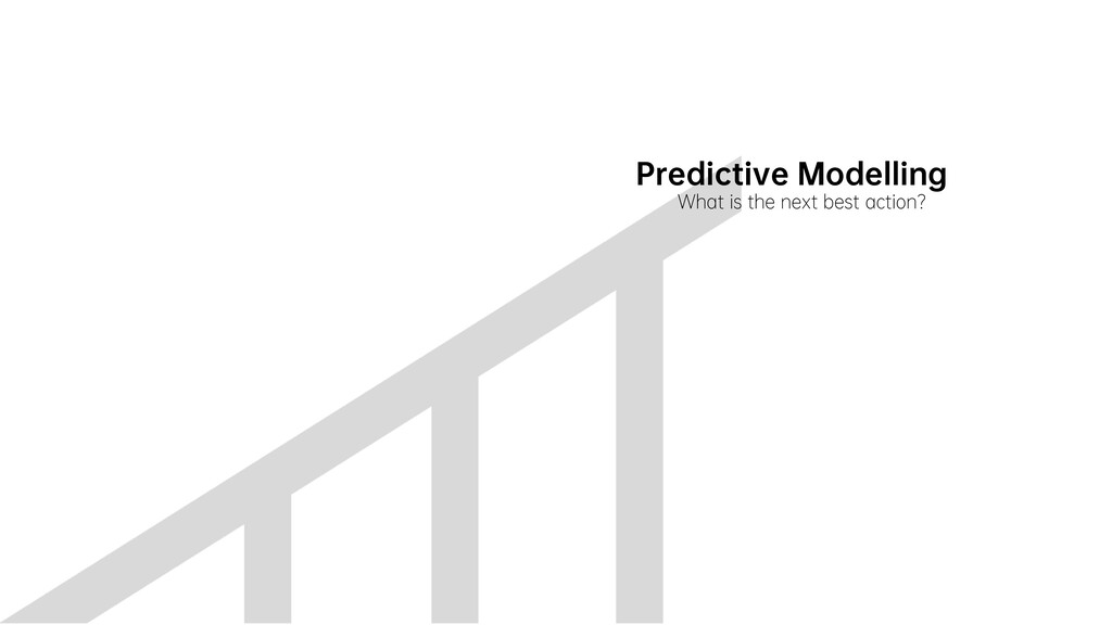 Predictive Modelling What is the next best acti...