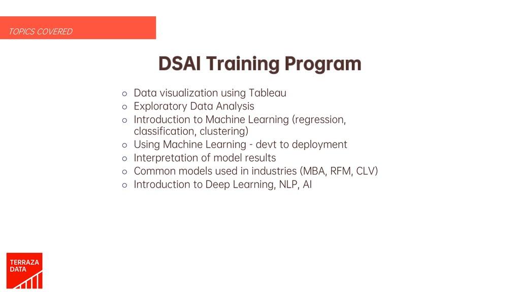 DSAI Training Program o Data visualization usin...